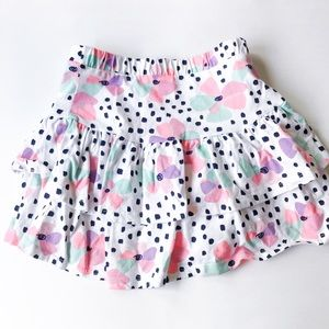 Jumping Beans Floral Ruffle Skirt Size 7